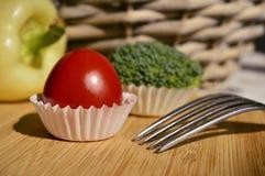 Tomaat cupcake Stock Foto