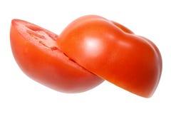 Tomaat die in de Helft wordt gesneden Stock Afbeelding