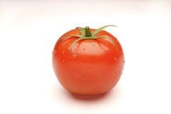 Tomaat die op wit wordt geïsoleerdi Stock Afbeeldingen
