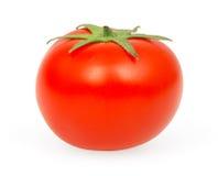 Tomaat die op wit wordt geïsoleerdt Stock Foto