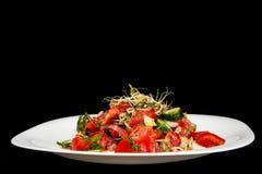 Tomaat en komkommersalade Royalty-vrije Stock Afbeeldingen