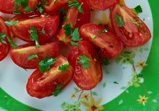 Tomaat en Koriandersalade Stock Afbeeldingen