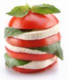 tomaat en mozarella royalty-vrije stock foto's