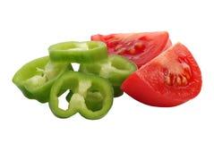 Tomaat en paprika Royalty-vrije Stock Afbeeldingen