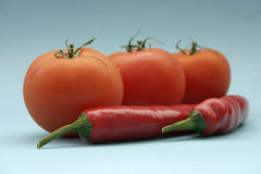 Tomaat en paprika Stock Foto