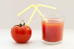 Tomaat en tomatesap Royalty-vrije Stock Foto's
