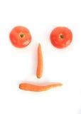 Tomaat en wortel stock foto's