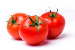 Tomaat op geïsoleerde witte achtergrond royalty-vrije stock afbeeldingen