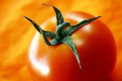 Tomaat op oranje achtergrond Royalty-vrije Stock Afbeelding