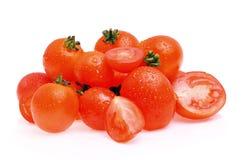 Tomaat op witte achtergrond Stock Afbeeldingen