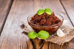 Tomaat Pesto stock foto