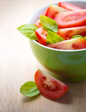 Tomaat salat Stock Foto's