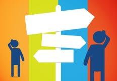 A tomada de decisão canta a placa ilustração do vetor