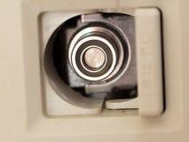 Tomada de fornecimento do gás doméstico japonês fotografia de stock
