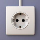 Tomada de soquete 3D da energia elétrica Foto de Stock Royalty Free