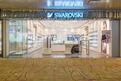 Tomada de Swarovski no aeroporto de Changi imagens de stock