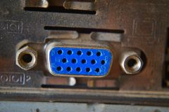 Tomada de VGA do portátil Fotos de Stock