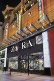 Tomada de Zara na noite, Pequim, China Foto de Stock Royalty Free