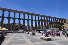 Tomada do aqueduto em sua parte frontal em Segovia Arquitetura, curso, história fotos de stock