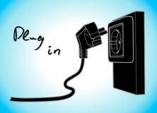 Tomada e soquete da eletricidade Tração simples do vetor imagens de stock royalty free