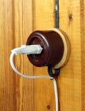 Tomada elétrica retro Foto de Stock Royalty Free