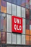 Tomada exterior da forma de Uniqlo, Pequim, China Foto de Stock Royalty Free