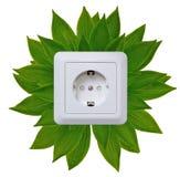 Tomada verde da energia Imagem de Stock