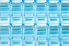Tomadas azuis do lan dos ethernet rj45 Imagem de Stock Royalty Free