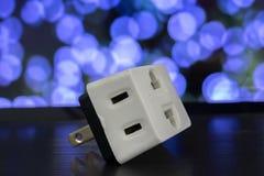 Tomadas de poder e um soquete Escolha com a liberalização da eletricidade Imagem de Stock Royalty Free