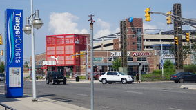 Tomadas de Tanger a caminhada em Atlantic City, New-jersey imagem de stock royalty free