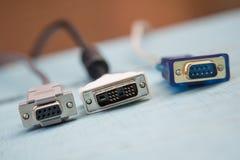 Tomadas do cabo de USB Fotografia de Stock