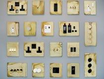 Tomadas e interruptores Imagem de Stock