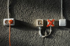Tomadas e interruptores Foto de Stock Royalty Free