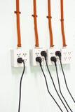 Tomadas elétricas Fotografia de Stock