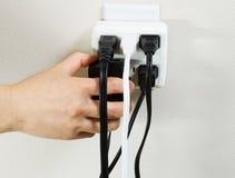 Tomadas elétricas múltiplas Fotografia de Stock Royalty Free