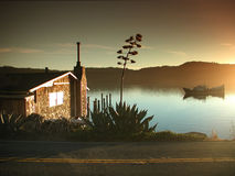Tomales Bay Roadside Cottage Stock Image