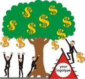 Tomando a colheita do dinheiro Imagem de Stock