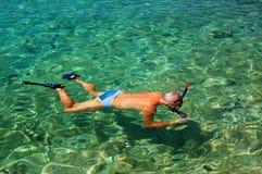 Tomando cuadros bajo el agua Imagen de archivo libre de regalías