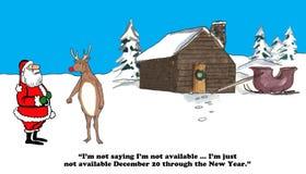Tomando férias no Natal ilustração stock