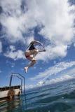 Tomando o mergulho Imagem de Stock