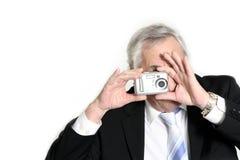 Tomando o retrato Fotografia de Stock