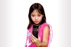 Tomando o retrato através do telefone de pilha Fotos de Stock