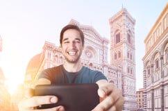 Tomando o selfie em Firenze Fotos de Stock
