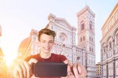 Tomando o selfie em Firenze Imagem de Stock