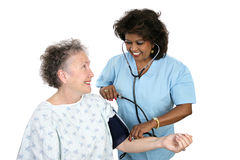 Tomando a pressão sanguínea Fotos de Stock Royalty Free