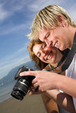 Tomando retratos Fotos de Stock