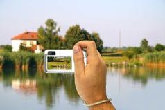 Tomando uma foto Imagem de Stock