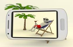 Tomando uma imagem na praia Imagem de Stock