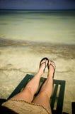 Tomando uma ruptura da praia Imagem de Stock