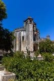 Tomar,葡萄牙女修道院的主要教会  库存照片